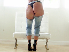 Holly Halston posing and getting her ass worshipped