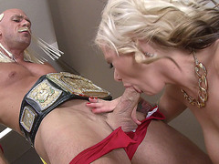 Kate Frost sucking and tit fucking his pecker