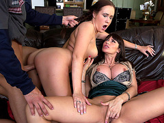 Eva Karera fucks her stepdaughter Holly Hudson and her boyfriend