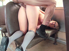 Young slut Brooke Wylde takes it balls deep doggy style