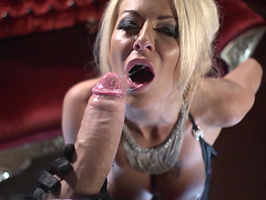 Tia Layne giving head for the biggest cock