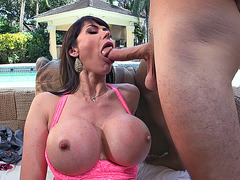 Eva Karera slobbered all over the cock