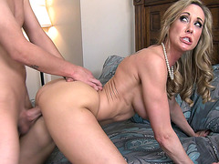 Brandi Love taking young dick doggy style