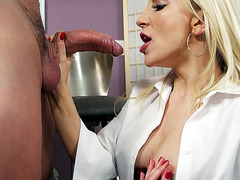 Ashley Fires loves to suck big meaty dick