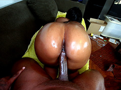 Nikki Ford taking black dick doggy POV style