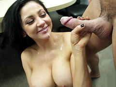 Audrey Bitoni receiving an okay facial