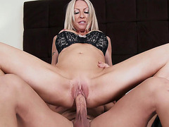 Emma Starr riding hard cock in the bedroom