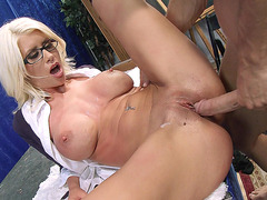 Riley Jenner taking rock hard cock in her pussy