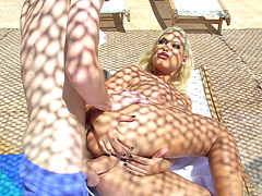 Bridgette B gets her tight ass pounded outdoor