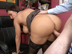 Lisa Ann getting slammed in the office