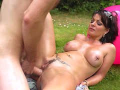 Amanda X gets her butt fucked in the garden