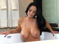 Ava Addams masturbates in the bathtub