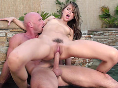 Riley Reid riding monster cock reverse cowgirl