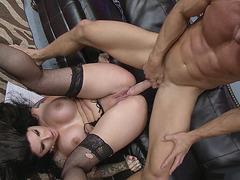 Darling Danika getting deep pussy penetration