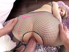 Allie James taking big cock right in her pretty ass hole