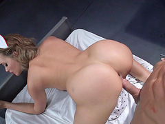Mia Malkova in a nurse outfit gets pounded by her patient