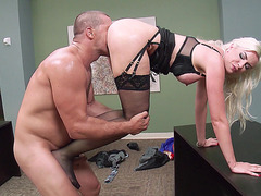 Gigi Allens getting licked by her boss