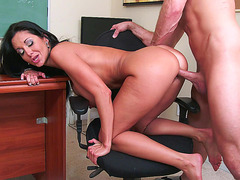 Ava Addams has him fuck her tight cunt in the classroom
