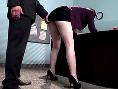 Ember Stone's boss wants to fuck her hard at work