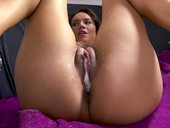 Franceska Jaimes just loves that big load inside of her cunt