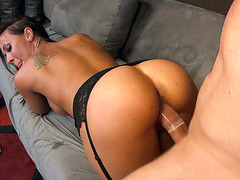 Rachel Starr lets him ram his dong in her snatch