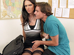 slutty teacher Jennifer Dark seduced by her student