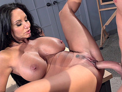 Ava Addams does a blowjob in the classroom