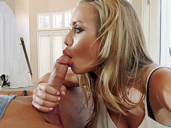 Nicole Aniston sucking dick while her husband at work