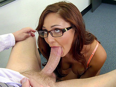 Ariana Marie provides her professor with a masterful blowjob
