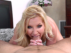 Ashley Fires throat fucks herself on that large dick