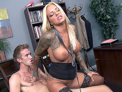 Britney Shannon fucks her boss in the office