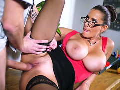 Sensual Jane getting fucked hardcore style in the classrom