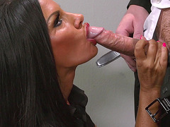 Elicia Solis is on her knees giving him nice head