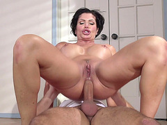 Hot bitch Shay Fox riding that pole anally