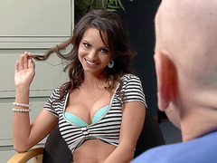 Ashley Sinclair seducing her boss in his office