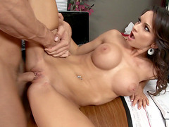 Ashley Sinclair took that juicy rod in her pussy