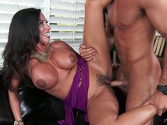 Big boobed MILF Ariella Ferrera fucks young stud
