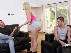Anikka Albrite has him eat her ass hole