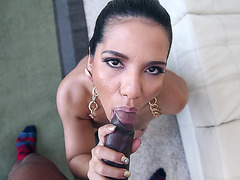 Rose Monroe never sucked big cock like this before
