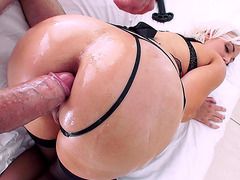 Jenna Ivory takes thick dick in her ass doggystyle