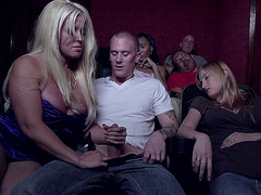 Alura Jenson sucks his dick while his gf is sleeping in the movie theater