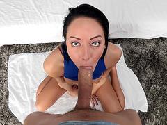 Sabrina Banks delivers a stunning POV blowjob