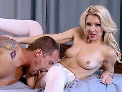 Laura Bentley has him eat her pussy in front of her husband