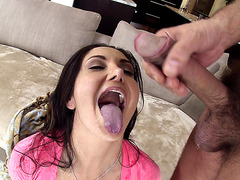Ava Addams happily takes big facial cumblast